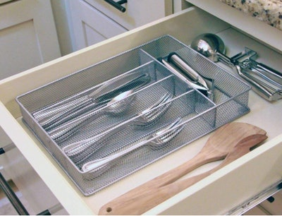 Yesker 5-Compartment Mesh Cutlery Tray