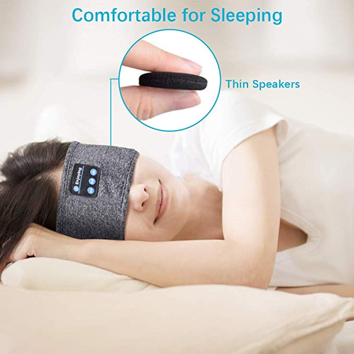 WINONLY Sleep Headphones Bluetooth Headband