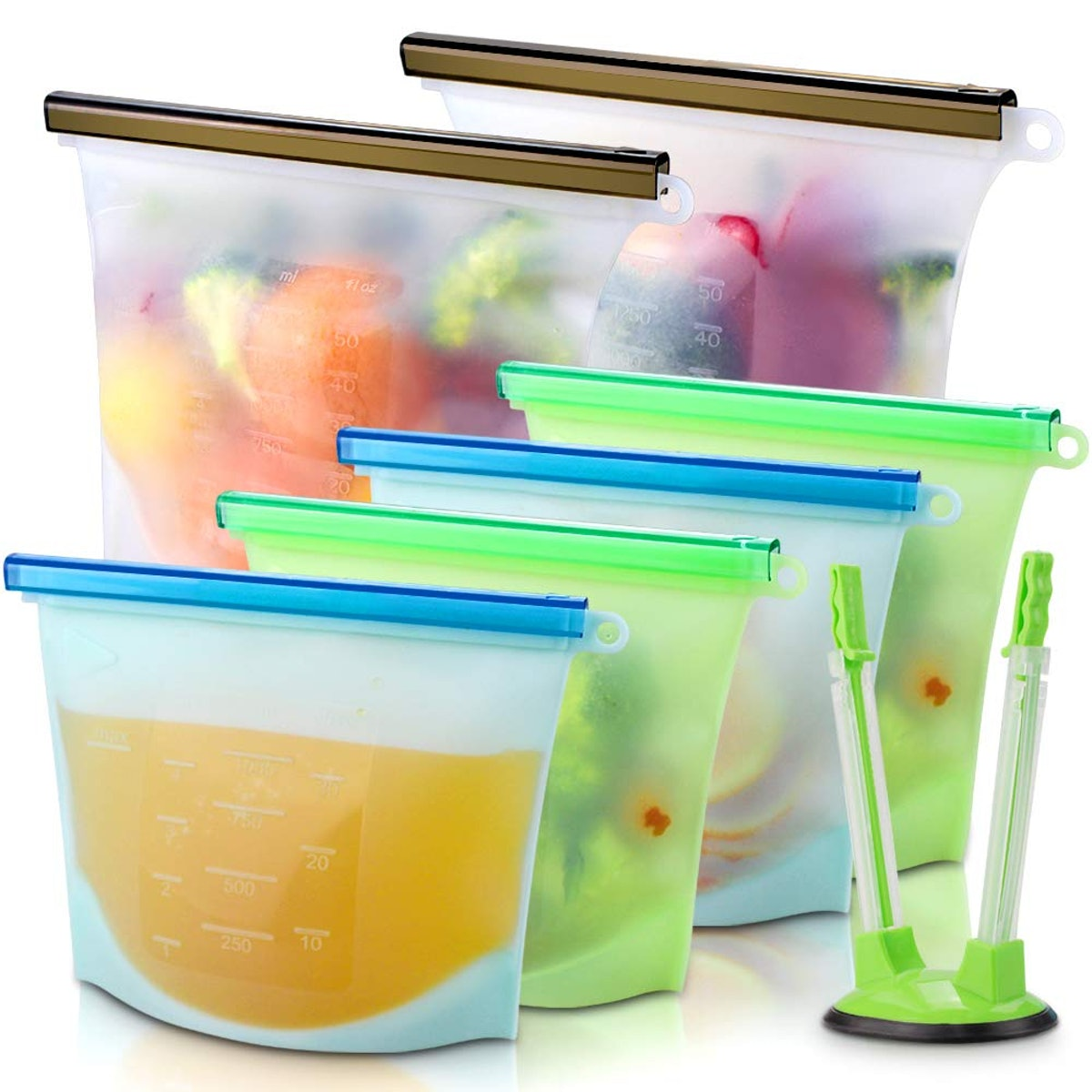 sungwoo Silicone Food Storage Bags (6-Pack)