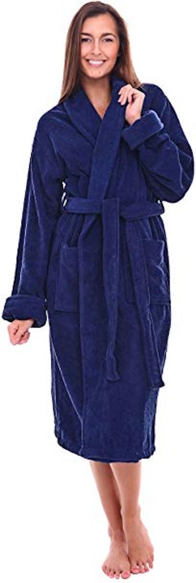 Alexander Del Rossa Women's Turkish Terry Cloth Robe