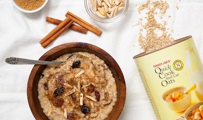 Trader Joe's cookie butter oatmeal is a breakfast upgrade.