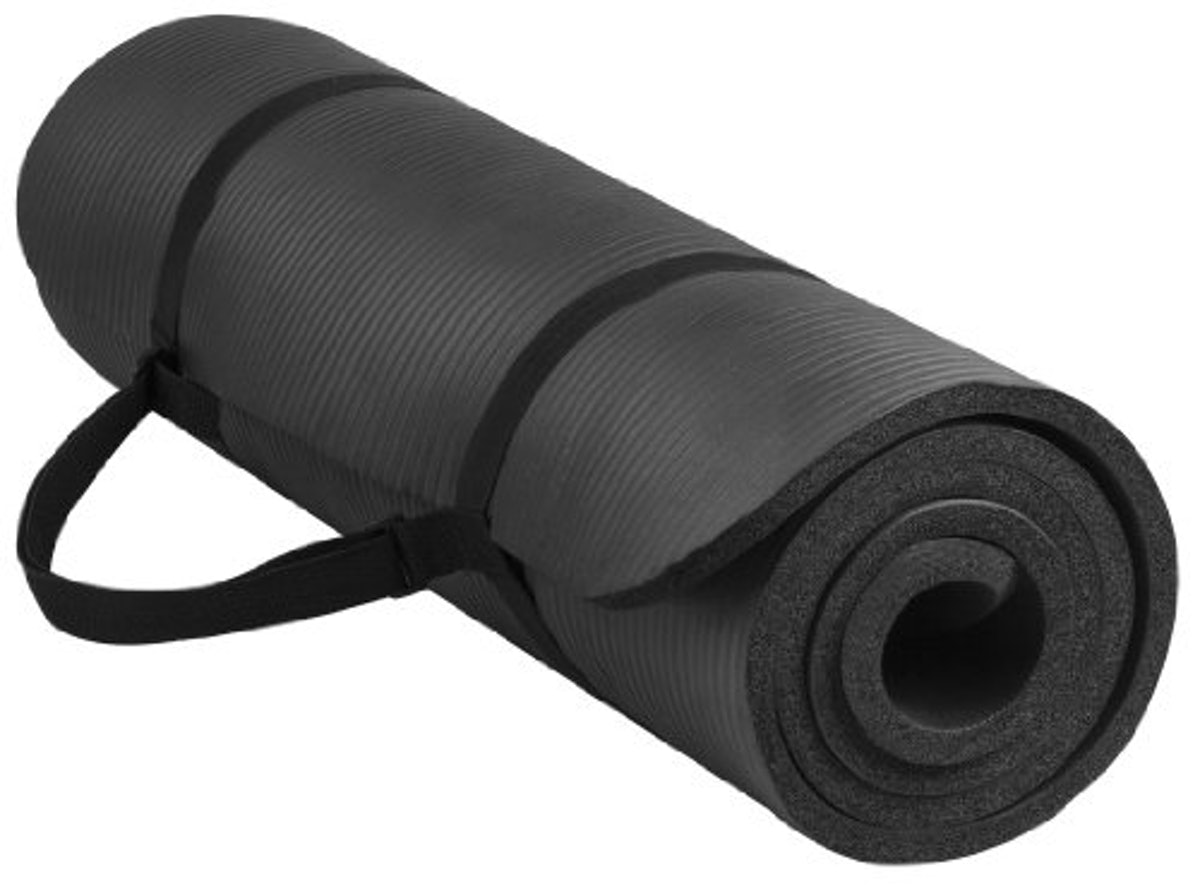 BalanceFrom GoYoga All-Purpose 1/2-Inch Extra Thick High Density Anti-Tear Exercise Yoga Mat