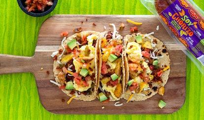 Versatile breakfast tacos using Trader Joe's ingredients.