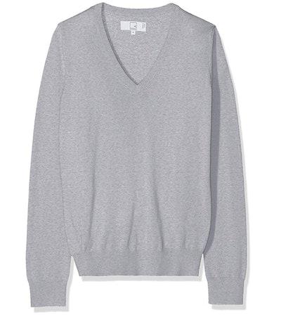 Meraki Women's Fine Merino Wool V-Neck Sweater