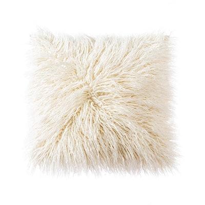OJIA Soft Plush Mongolian Faux Fur Throw Pillow Cover