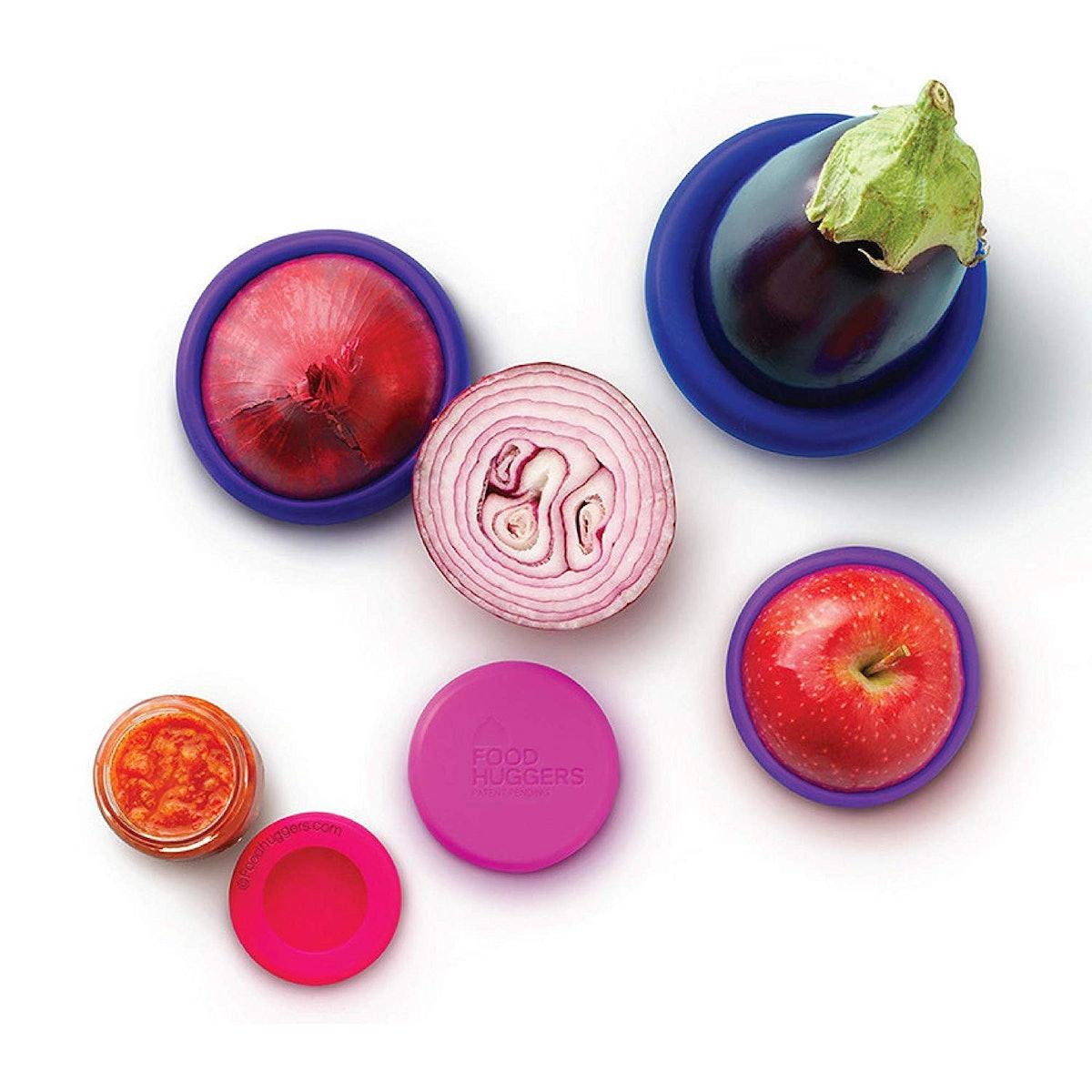 Food Huggers Silicone Food Savers (5-Piece Set)