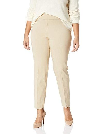 Lark & Ro Women's Plus Size Straight Leg Pants