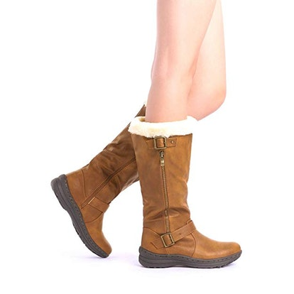 DREAM PAIRS Women's Winter Lined Knee High Boots