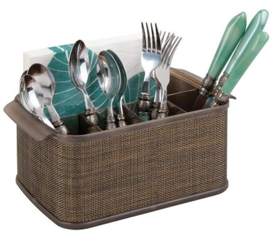mDesign Plastic Cutlery Storage Caddy