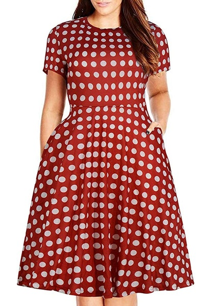 Nemidor Women's Flare Midi Dress