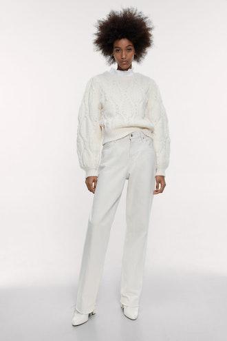Pearl Wool And Alpaca Blend Sweater