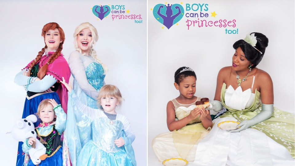 A photographer created an empowering photo series of boys dressed as princesses.