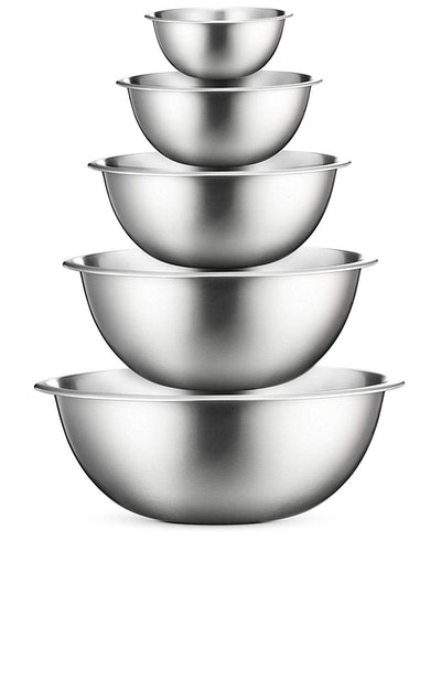 FineDine Premium Stainless Steel Mixing Bowls (Set of 5)