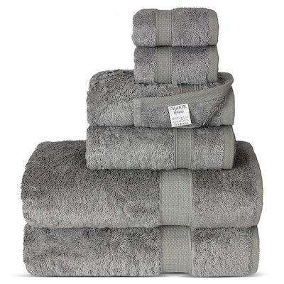 Chakir Turkish Linens Luxury Ultra Soft Bamboo Cotton Towel Set (6-Pieces)
