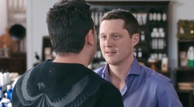 Daniel Levy as David and Noah Reid as Patrick on Schitt's Creek
