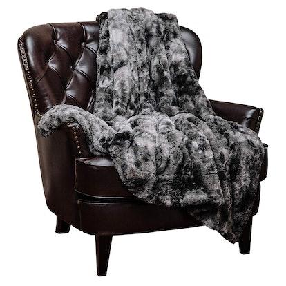 Chanasya Fuzzy Faux Fur Throw Blanket