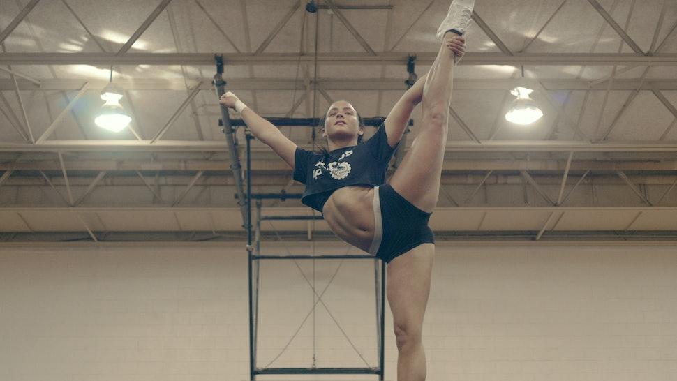 A cheerleader in Netflix's new docuseries, 'Cheer'