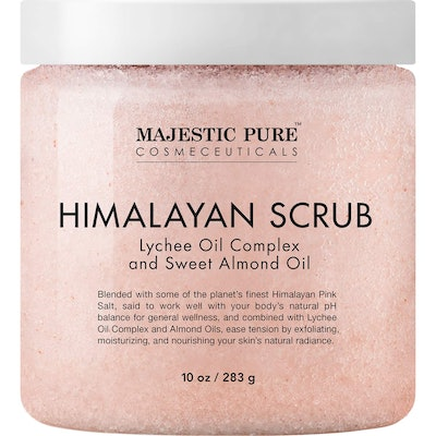 Majestic Pure Himalayan Salt Body Scrub with Lychee Oil