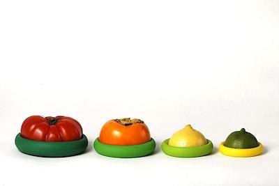 Farberware Food Huggers Reusable Silicone Food Savers (4-Pack)