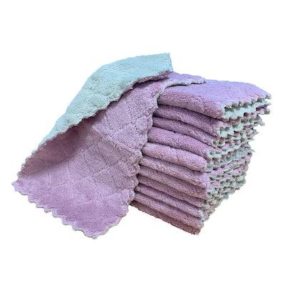 kimteny Coral Velvet Dishtowels (12-Pack)