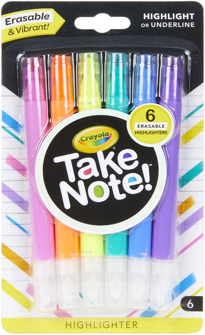 Crayola Take Note! Chisel Tip Erasable Highlighters