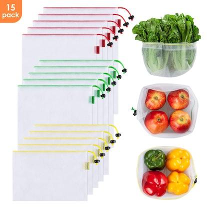 Ecowaare Mesh Produce Bags (15-Piece Set)