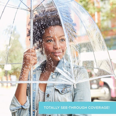 totes Women's Clear Bubble Umbrella