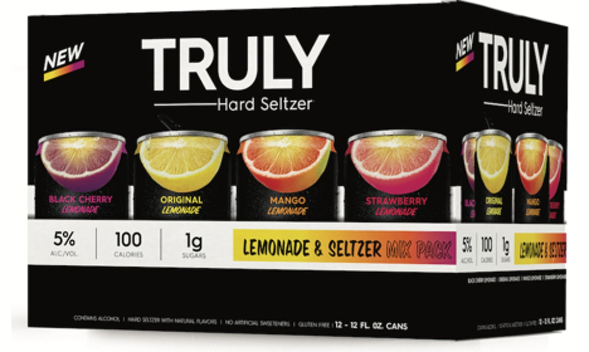 Truly is launching Lemonade Hard Seltzer in four fruity flavors.