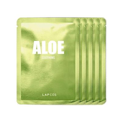 LAPCOS Aloe Sheet Mask, Daily Face Mask (5-Pack)