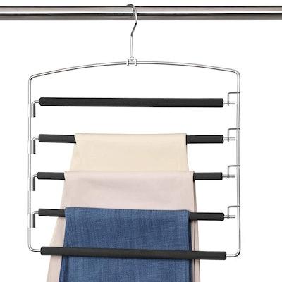 Meetu Pants Hangers With 5 Layers