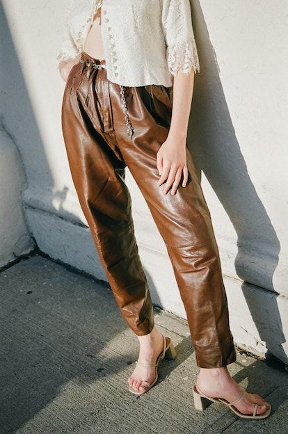 Vintage I Brown Leather Pants