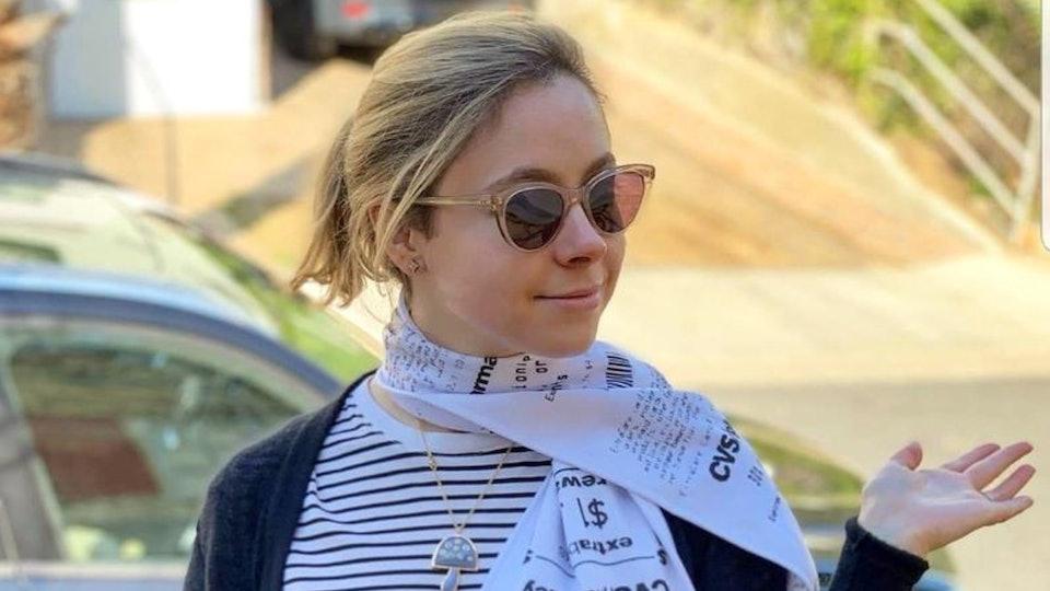 You can now wear a replica CVS receipt scarf made of fleece.