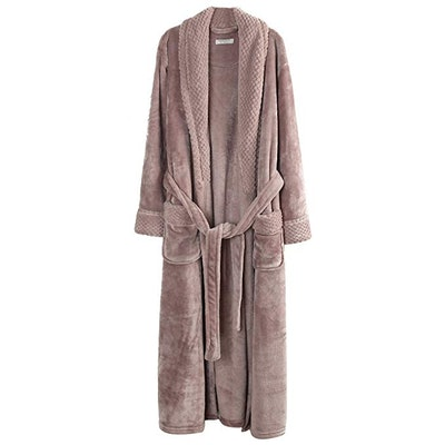 Richie House Plush Soft Warm Fleece Bathrobe Robe