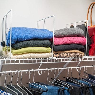 Evelots Closet Wire Shelf Divider