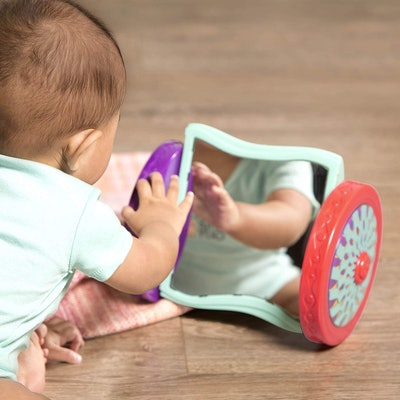 B. Toys Looky-Looky Crawl Along Mirror – Sensory Crawling Toy for Babies
