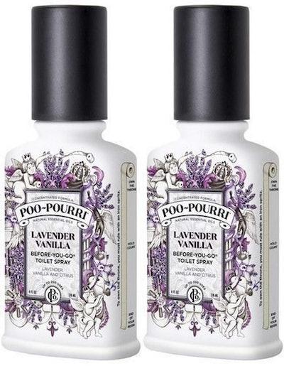 PooPourri Before You Go Spray, Lavender Vanilla (2-Pack)