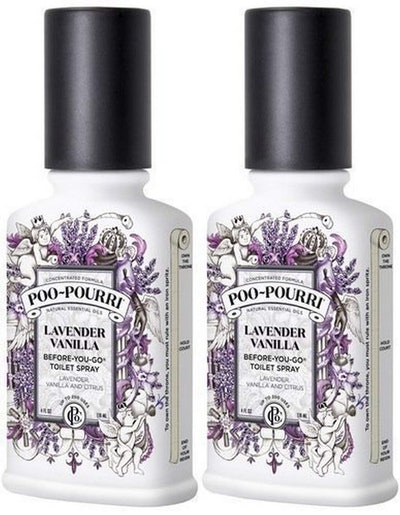PooPourri Before You Go Spray, Lavender Vanilla (2-Pack)