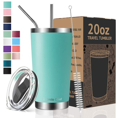 Umite Chef 20oz Tumbler Double Wall Stainless Steel Vacuum Insulated Travel Mug with Lid