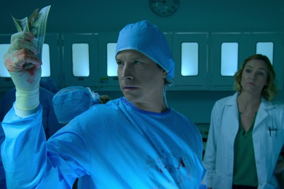 Rob Huebel and Erinn Hayes in 'Medical Police'