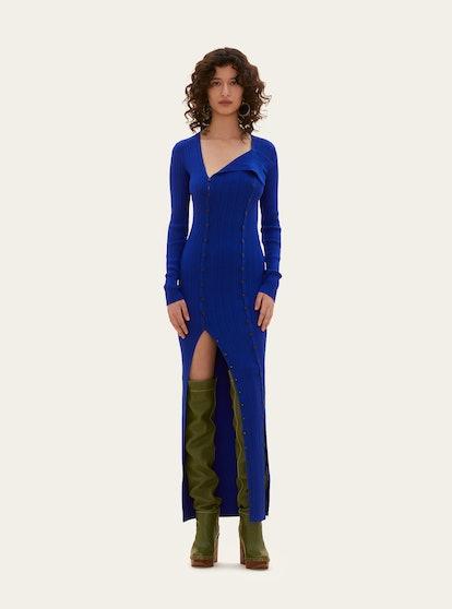 La robe maille Azur