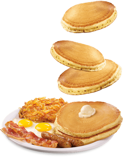 Denny's new Super Duper Slam meal comes with eggs, bacon, sausage, hash browns, and endless pancakes.