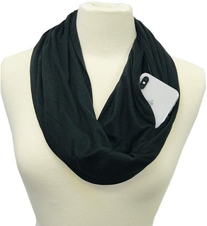 Shop Pop Fashion Infinity Scarf with Zipper Pocket