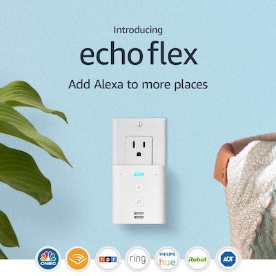 Echo Flex Plug-In Mini Smart Speaker With Alexa