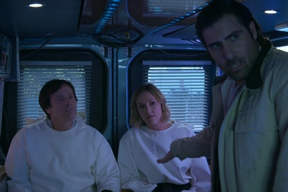 Rob Huebel, Erinn Hayes, and Jason Schwartzman in 'Medical Police'