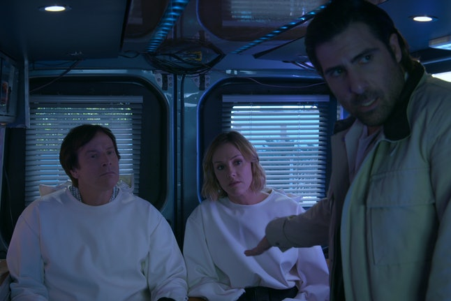 Rob Huebel, Erinn Hayes, and Jason Schwartzman in 'Medical Police'