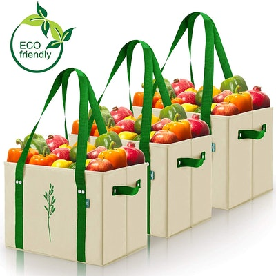 Green BD's Reusable Grocery Bags (3-Pack)