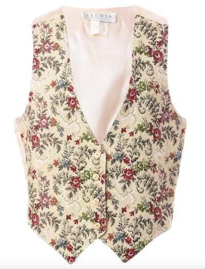 1990s Floral Pattern Waistcoat
