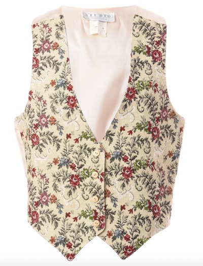 1990s Floral Pattern Waistcoat