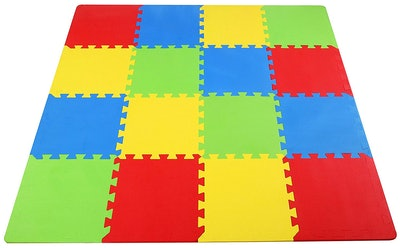 BalanceFrom Kid's Puzzle Exercise Play Mat with EVA Foam Interlocking Tiles - 16 Tiles