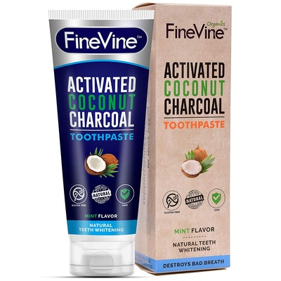FineVine 100% Natural Charcoal Teeth Whitening Toothpaste
